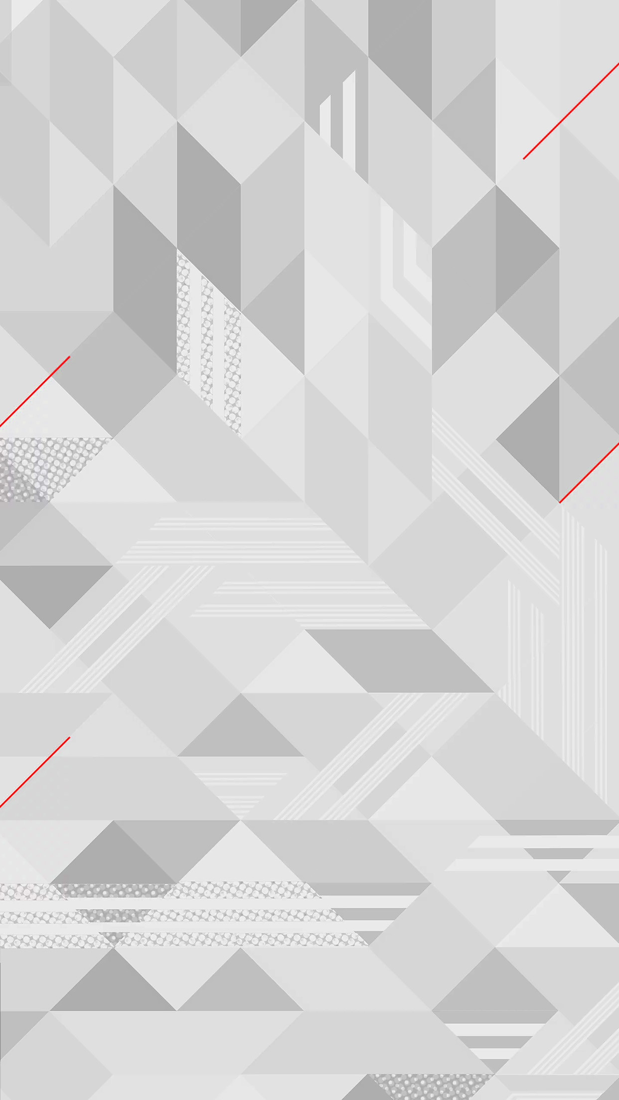 White Abstract Triangle Pattern Bw Android wallpaper