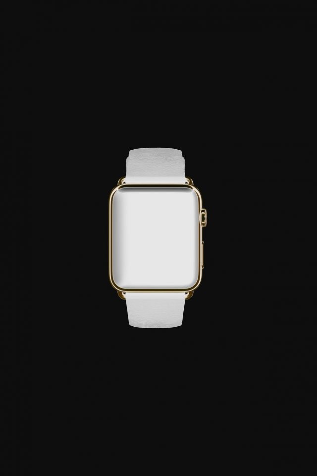 White Dark Apple Watch Simple Art Android wallpaper