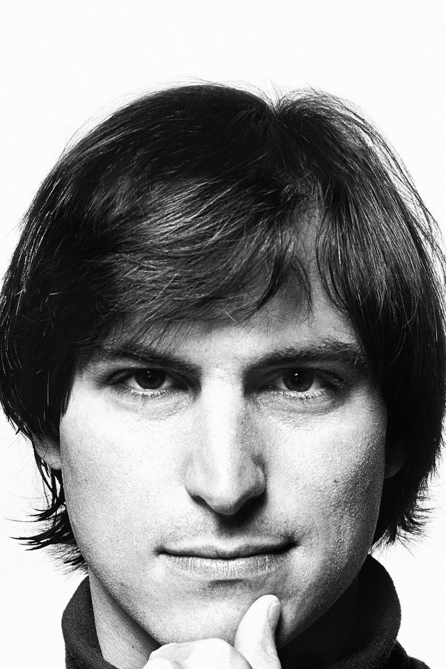 Young Steve Jobs Face Android wallpaper